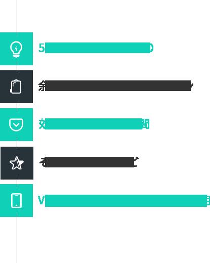 512個のFull Color LED 余計のないシンプルなデザイン 効率的な内部収納空間 そのほかの特徴など VENUKI Application あらゆる効用